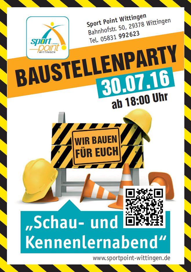 Baustellenparty Sport Point Wittingen